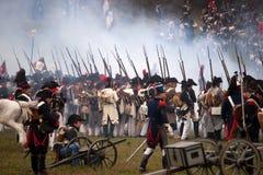 在军用服装, Austerlitz的历史爱好者 库存照片
