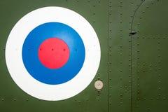 在军用直升机的靶心目标 免版税库存图片