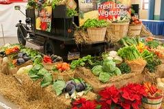 在农厂显示的蔬菜 免版税库存图片
