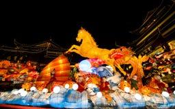 在农历新年的灯节。2014年2月16日 免版税图库摄影