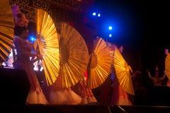 在农历新年的爱好者跳舞。 免版税库存照片
