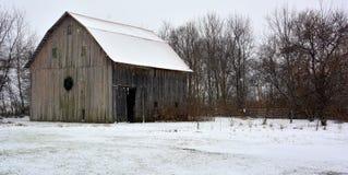在农场的冬天 免版税图库摄影