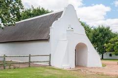 在农场的历史建筑 免版税库存图片
