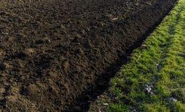 在农场的可耕的领域 库存图片