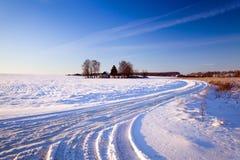 在农场的路 免版税图库摄影