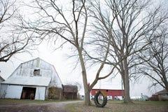 在农场的更加简单的天 免版税图库摄影