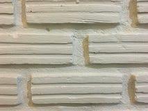 在农村的白色砖墙背景 免版税库存照片