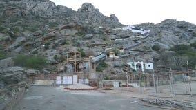 在农村风景的看法与在小山底部的房子在乔德普尔城 股票视频