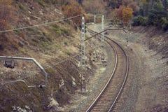 在农村风景的铁路 库存照片