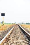 在农村风景的铁路 免版税库存图片