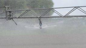 在农田的灌溉系统 图库摄影