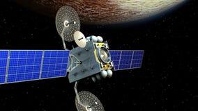 在冥王星轨道的卫星 皇族释放例证