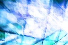 在冬天口气的抽象几何背景 免版税库存图片