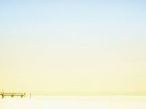 在冬天季节(2)的湖chiemsee 免版税库存图片