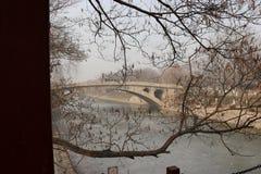 在冬天安吉Brige 免版税库存图片