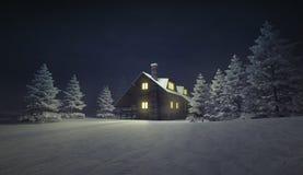 在冬天安静风景的有启发性木村庄 库存例证