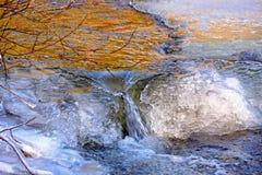在冬天寒冷不能应付小河 免版税图库摄影