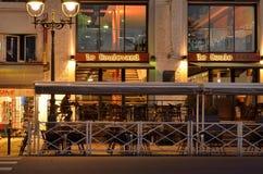 在冬天日出的大道des比利牛斯 免版税图库摄影