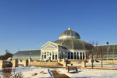 在冬天期间,圣保罗,明尼苏达2017年12月-科莫动物园和音乐学院 免版税库存照片