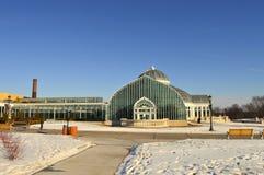 在冬天期间,圣保罗,明尼苏达2017年12月-科莫动物园和音乐学院 库存照片