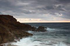 在冬天期间,地中海的全景 库存照片