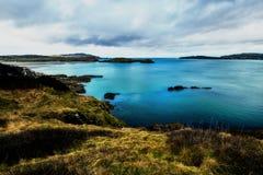 在冬天期间,沿岸航行在阿兹森林公园在Donegal爱尔兰 免版税库存照片