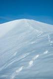 在冬天的山Hibiny 免版税图库摄影