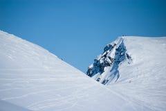 在冬天的山Hibiny 免版税库存图片