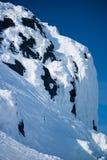 在冬天的山Hibiny 库存照片