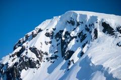 在冬天的山Hibiny 图库摄影