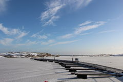 在冬天的码头 免版税库存图片