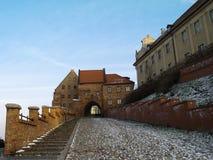 在冬天的Grudziadz 免版税库存照片