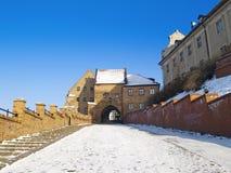 在冬天的Grudziadz 免版税图库摄影