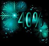 40%在冬天销售 免版税库存图片