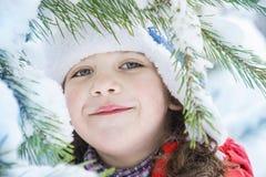在冬天,在森林里,一个小容器冬天,在森林里,小 免版税库存照片