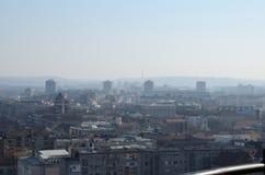 在冬日的都市风景 库存图片