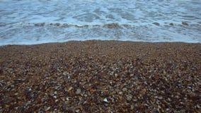 在冬时的黑海海滩 影视素材
