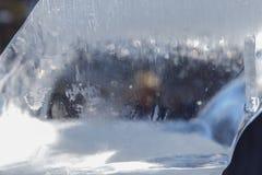 在冰一个冻结的块的冻结的样式  库存图片