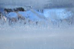 在冰一个冻结的块的冻结的样式  图库摄影