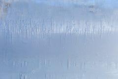 在冰一个冻结的块的冻结的样式  免版税库存图片