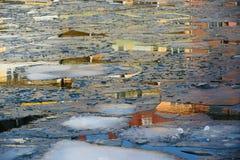 在冰下的亚特兰提斯 库存图片