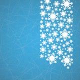 在冰与犁沟-圣诞节背景的雪花 库存图片