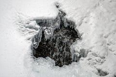 在冰后的瀑布 免版税图库摄影