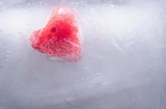 在冰块的重点 免版税图库摄影