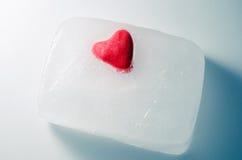 在冰块的重点 免版税库存图片