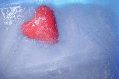 在冰块的重点 库存照片