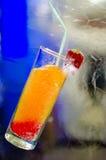 在冰块里面的冻鸡尾酒 库存照片