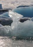 在冰层的特写镜头 免版税库存图片