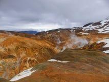 在冰岛中间的土地 免版税图库摄影