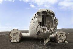 在冰岛放弃的飞机 免版税库存图片